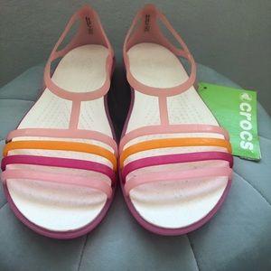 New crocs isabela sandals 9 pink
